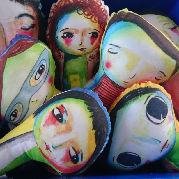 Illustrated dolls